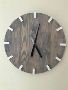 Wood Clock Large Gray Modern Wood Clock Pallet Wood Clock Reclaimed