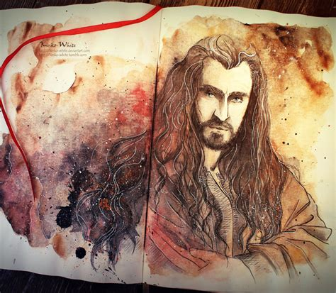arts drawing photos thorin from hobbit painting by kinko white