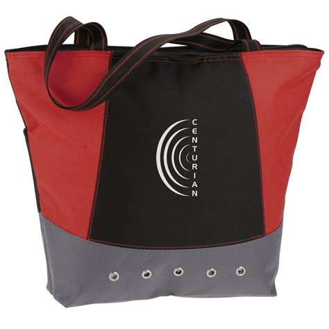 home design products 12 gallon flip top tote 4imprint ca commuter tote bag c112875 imprinted with