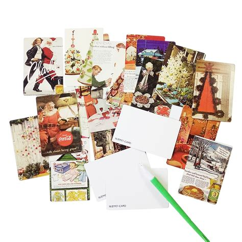 Mini Postcard Set 54pcs pack vintage merry business cards set mini