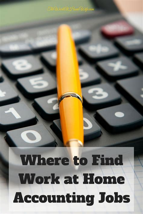 where to find work from home accounting to