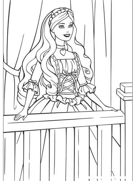 coloring pages princess barbie free printable barbie coloring pages for kids