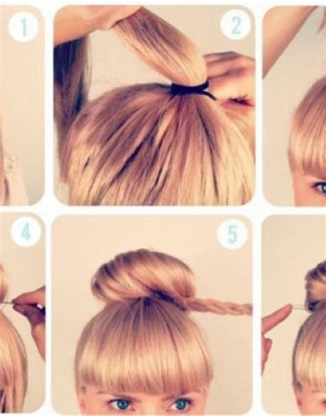 Updo Hairstyles Braided Bun Hairstyles Hollywood Official