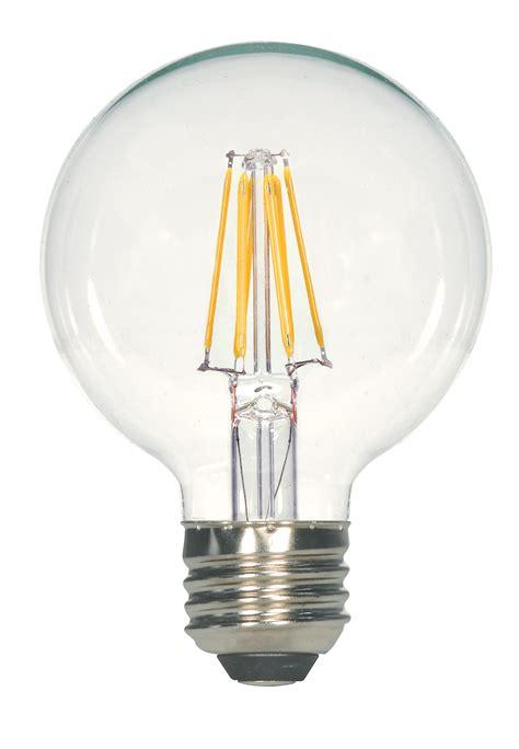 satco 09564 6 5g25 cl satco s9255 filament led 6 5 watt 120 volt g25