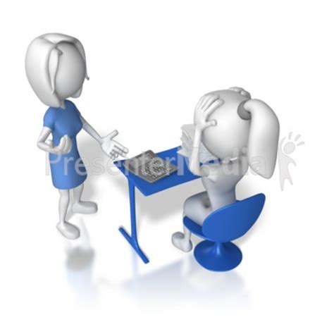 Women Overwhelmed At Work 3d Figures Great Clipart For Presentations Www Presentermedia Com Presentation Media Free