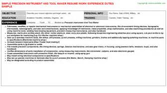 instrument fitter resumes
