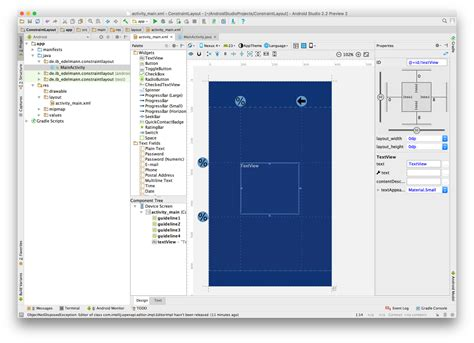 android studio layout half android studio constraint layout guidelines und