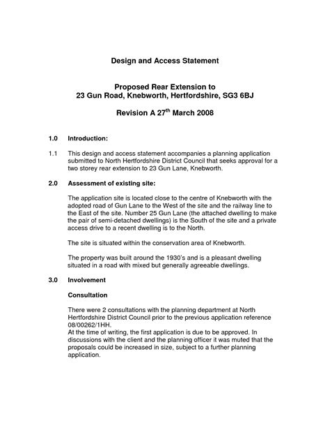 design statement template 13 design and access statement templates images design