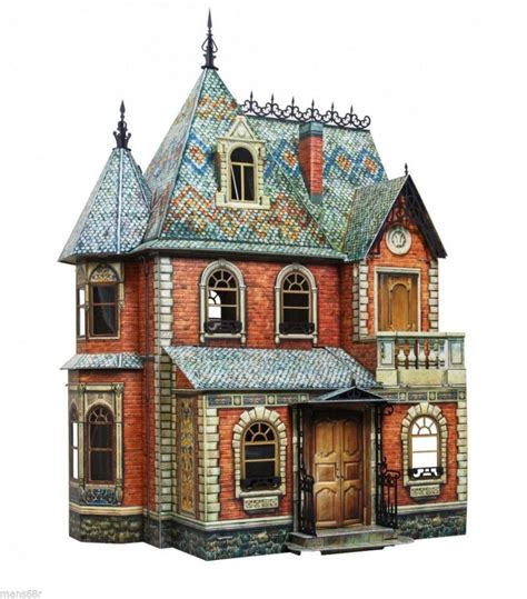 spark notes doll house full set victorian doll house dollhouse miniature scale 1 12 model kit 1 2 3 ebay