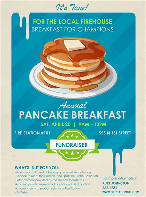 Pancake Breakfast Flyer Pancake Fundraiser Flyer Template