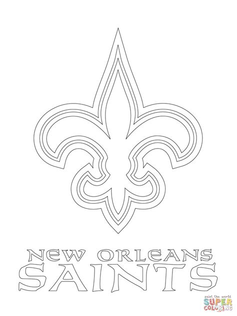 nfl saints coloring pages new orleans saints logo coloring page free printable