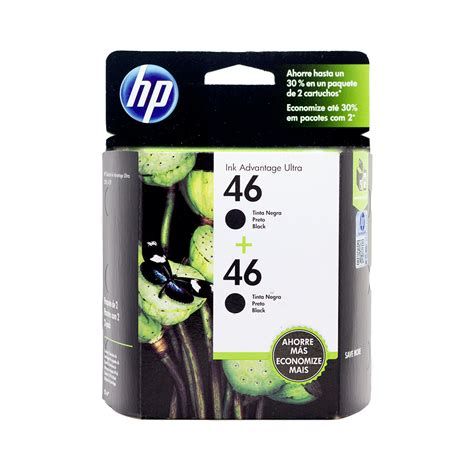 Tinta Hp 46 Color Original cartucho hp 46 pack x 2 unidades original de tinta negra