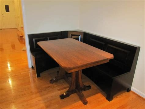 corner kitchen table with bench woodworking ija get corner table wood plans