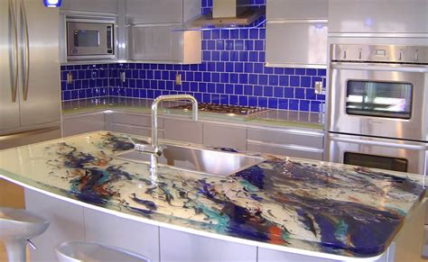 glas stab countertops glass kitchen countertops by thinkglass idesignarch
