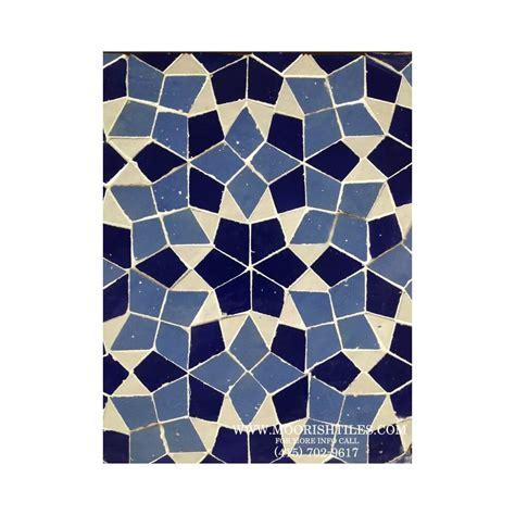 Blue Moroccan mosaic tile   Moorish pool tiles