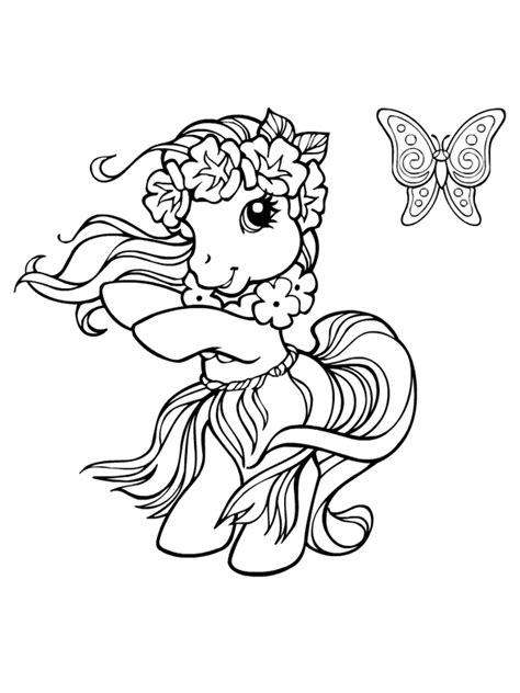 Petit Poney #19 (Dessins Animés) – Coloriages à imprimer