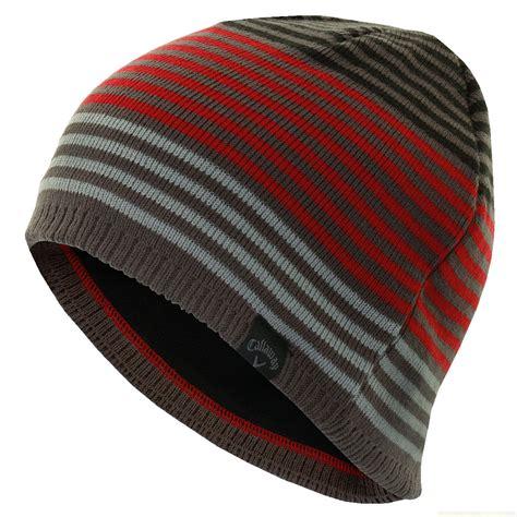 mens knit beanie callaway golf mens stripe knit beanie winter wooly hat ebay