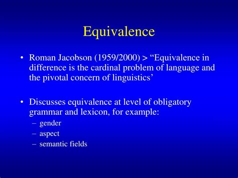 thesis about equivalence in translation theory ppt translation theory and the non l iterary text