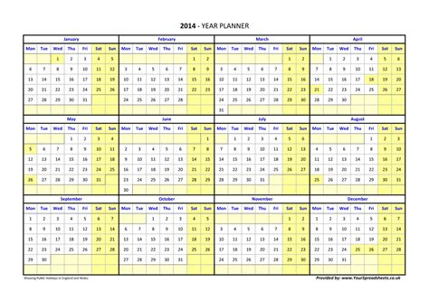 printable a4 planner 2015 year planner ireland