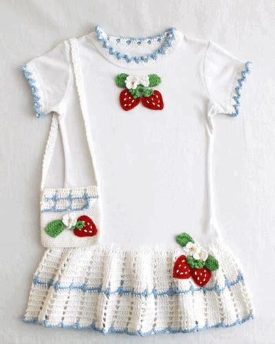 t shirt purse pattern strawberry t shirt dress and purse crochet pattern