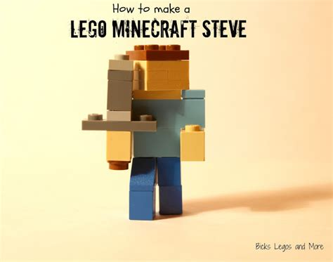 How To Make A Minecraft Steve Out Of Paper - bricks legos and more how to make a lego minecraft steve
