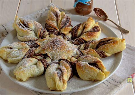 fiore con nutella fiore di sfoglia alla nutella o crema di nocciole torta