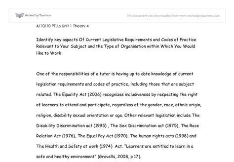 Ptlls Assignment 1 1 Essay by Ptlls Essay Legislation Sanjran Web Fc2