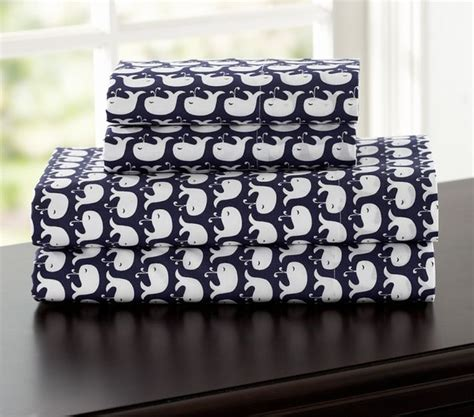 whale bedding whale sheeting eclectic kids bedding by pottery barn
