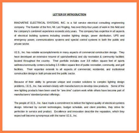 Introduction Letter Engineering Company 3 company letter of introduction template company