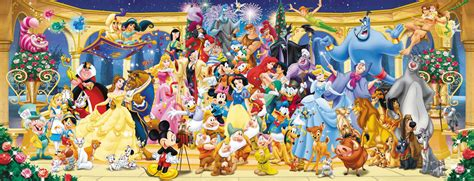 disney characters panorama puzzle 1000pc 1 000 pieces