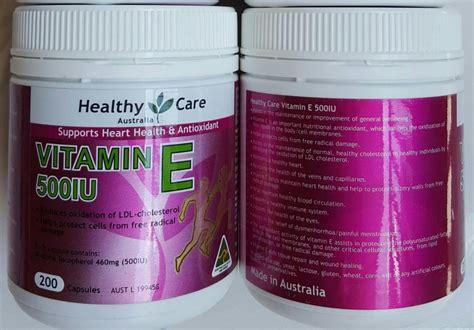 Healthy Care Vitamin E 500iu thuốc bổ tim v 224 chống l 227 o h 243 a healthy care vitamin e 500iu