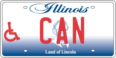 Cyberdriveillinois Vanity Plate by Persons With Disabilities License Plates