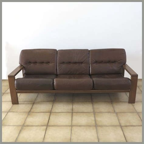 German Leather Sofa by Vintage German Three Seater Leather Sofa For Sale At Pamono