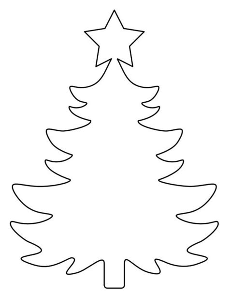 christmas tree printable template outline pattern