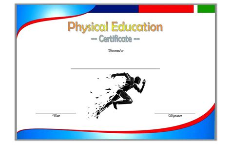 physical education certificate template 2 the best