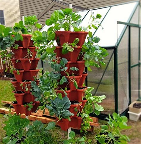 mr stacky 5 tier strawberry planter pots insteading
