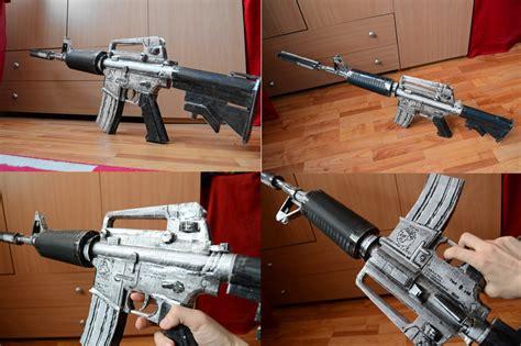 Papercraft Guns - crossfire m4a1 s silver papercraft 2 by svanced on deviantart