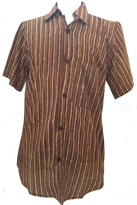 light brown casual made of cotton light brown brown striped blockprint cotton mens