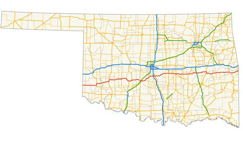 roadmap of oklahoma oklahoma highway map adriftskateshop