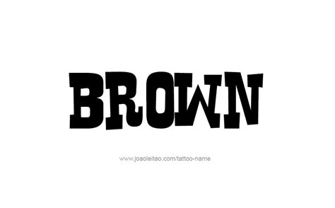 brown names brown color name designs tattoos with names