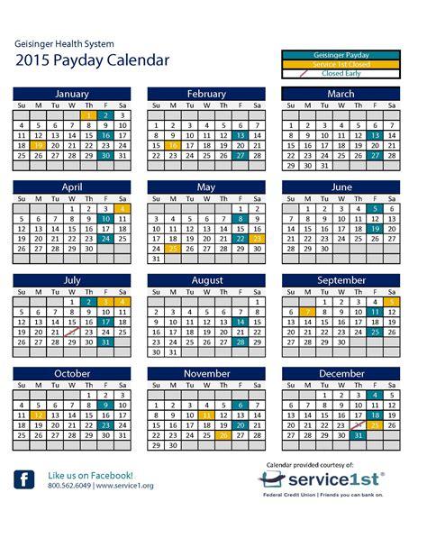 Calendar 2018 Opm Federal Payday Calendar 2015 Calendar Template 2016