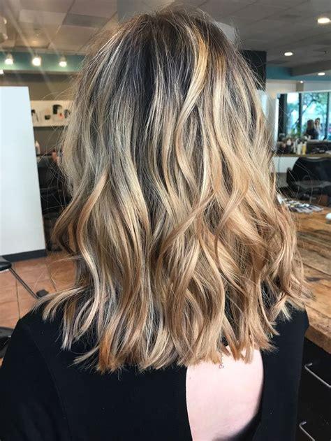 balayage lob blonde balayage lob with dark roots haircut pinterest
