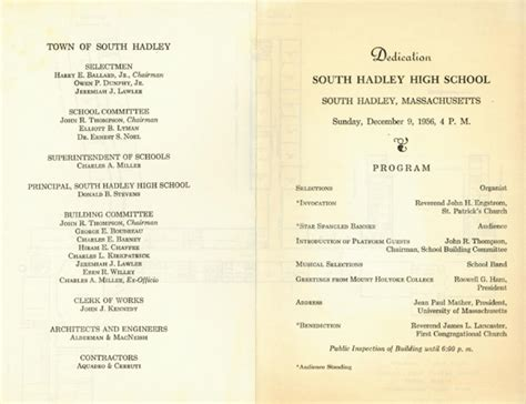 high school football program template remembering the south hadley high school