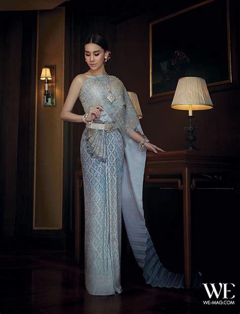 Thai Wedding by Traditional Thai Wedding Dress In Blue By Milan Bridal