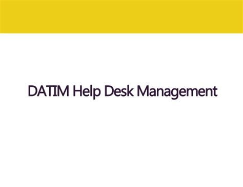 global entry help desk managing a global datim help desk lessons learned