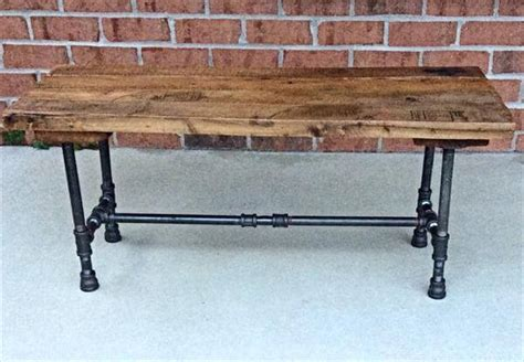 pipe bench diy diy reclaimed pallet and iron pipe bench 101 pallets
