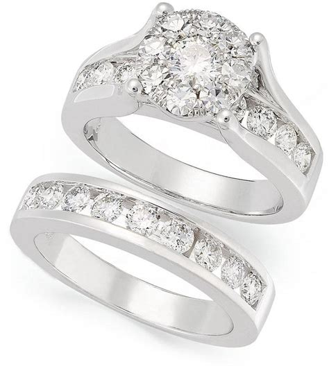 prestige unity bridal set 14k white gold