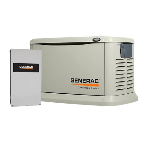 generac whole house generator generac 6553 22kw centurion series standby generator with whole house switch atg stores