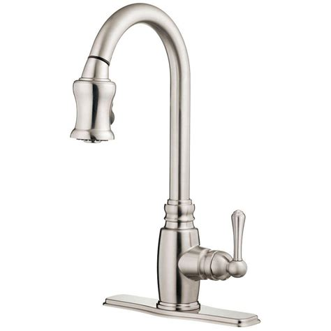 canadian tire danze bravo brushed nickel pull out danze faucets danze kitchen faucets danze d422257br