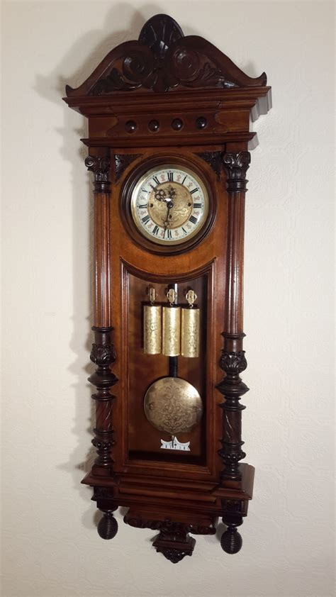 gustav becker gustav becker grande sonnerie vienna wall clock